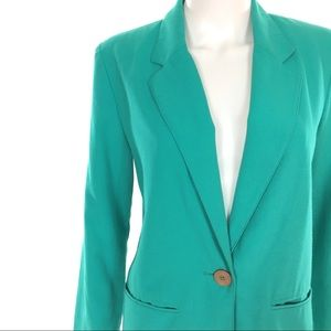 Vintage Jackets & Coats - SOLD ❌ Vintage 80s Teal Casual Cocktail Blazer 💫